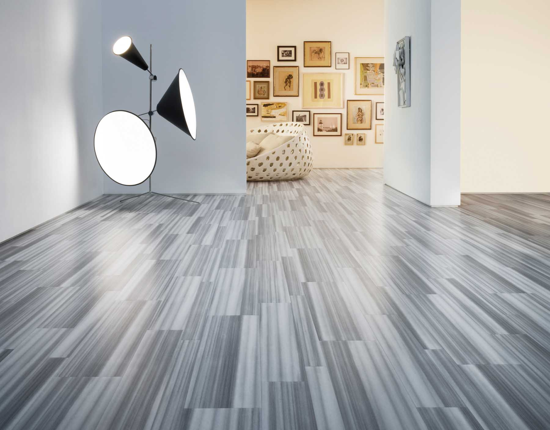 Engineered wood flooring in a art gallery supplied by Inspire Flooring Aberdeen